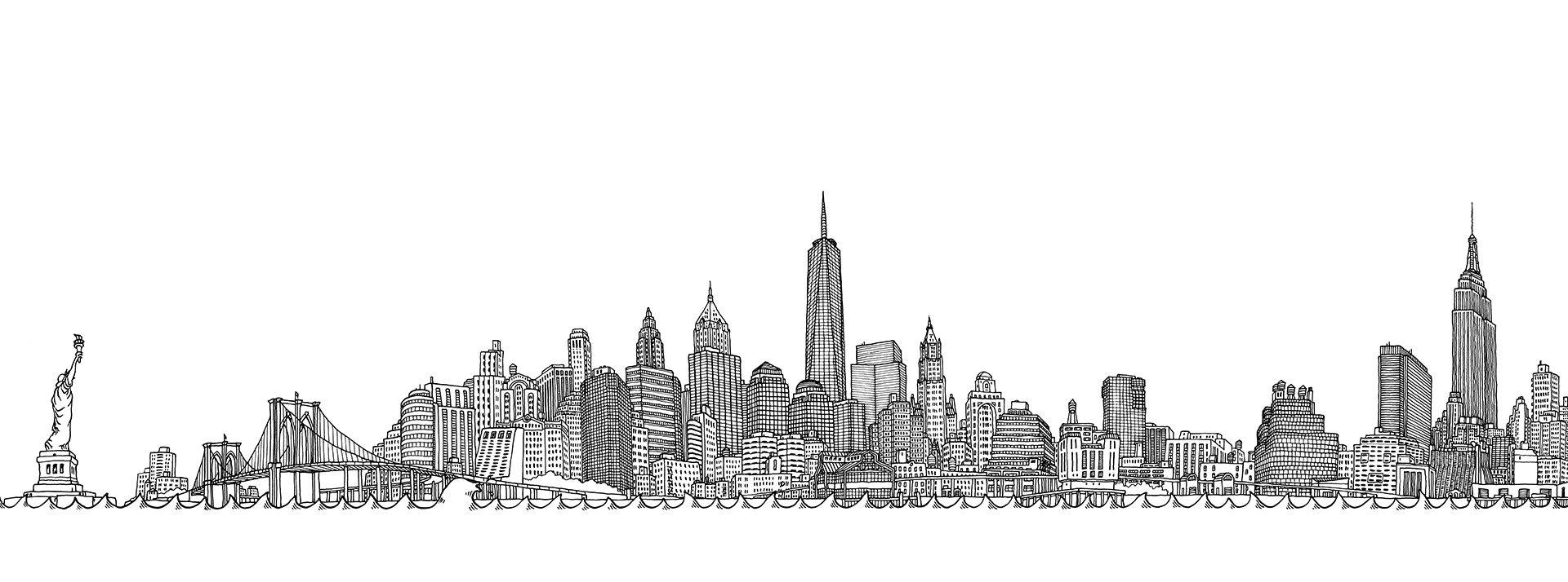 Matteo-Pericoli-Imaginary Skyline Manhattan