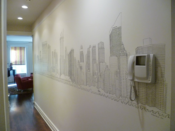 Matteo-Pericoli-Mural in NYC Apartment