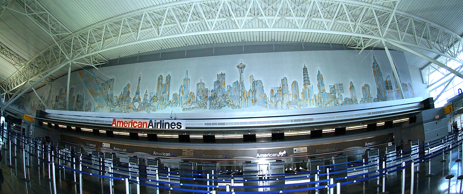 Matteo-Pericoli-Skyline of the World @ JFK