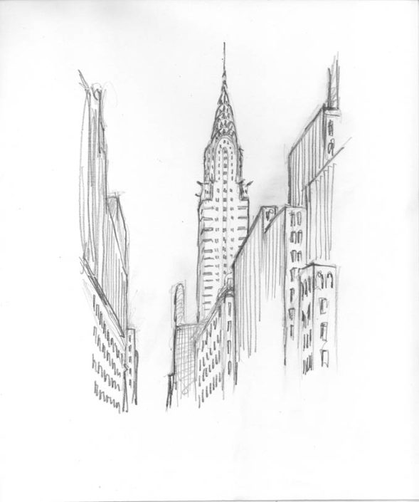 Matteo-Pericoli-Chrysler Building-New York