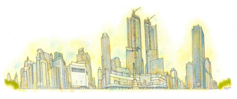 Matteo-Pericoli-Columbus Circle